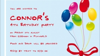 birthday party invitation wordings, readymade for you FREE!!!