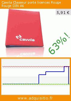 Cawila Classeur porte licences Rouge Rouge DIN A6 (Sport). Réduction de 63%! Prix actuel 5,91 €, l'ancien prix était de 15,90 €. https://www.adquisitio.fr/cawila/classeur-porte-licences-0
