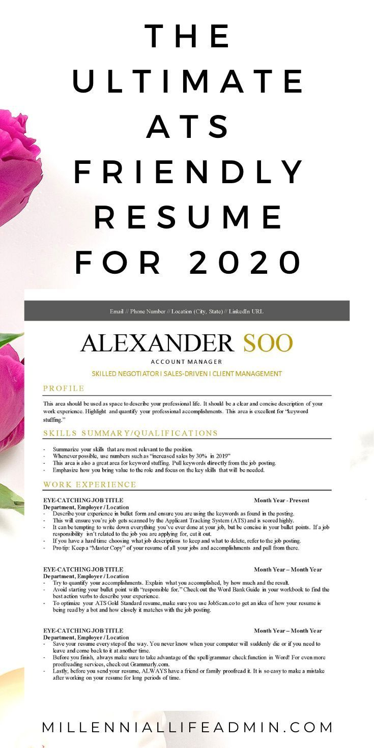 Gold Standard ATS Friendly Resume Template (with free