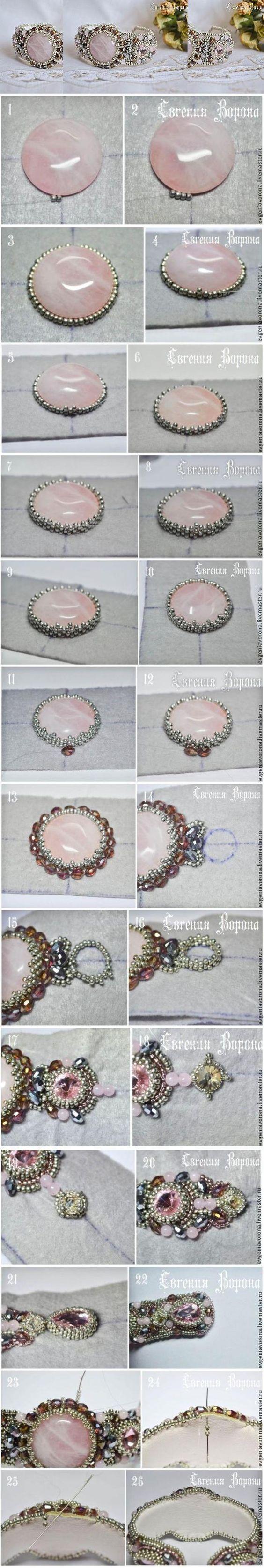 Beautiful beaded bracelet tutorial / Мастер-класс: нежный браслет вышитый бисером