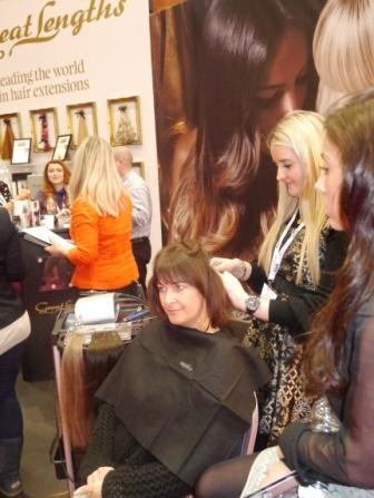 Professional Hairdresser Live 2013 - check out the Great Lengths team using Easydry towels on their stand. www.easydry.com #prohairlive #greatlengths
