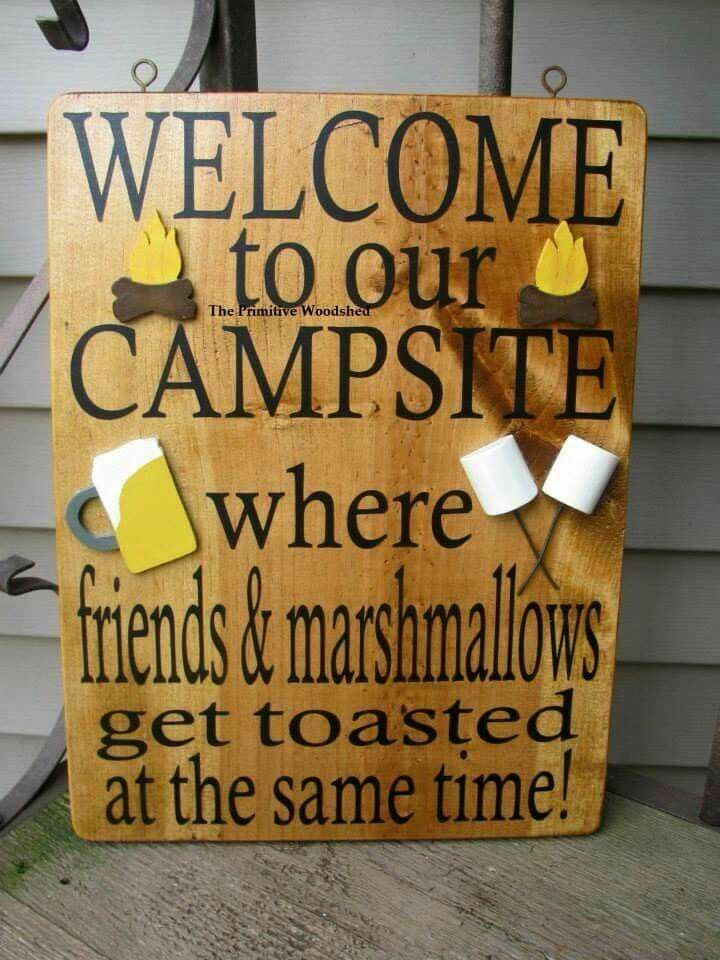 Awesome camping sign