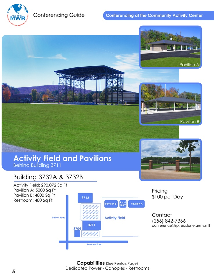 Activity Field and Pavilions