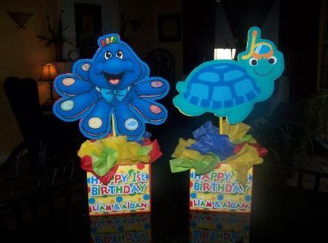 Baby Einstein Birthday Party Centerpieces. www.playpatterns.net