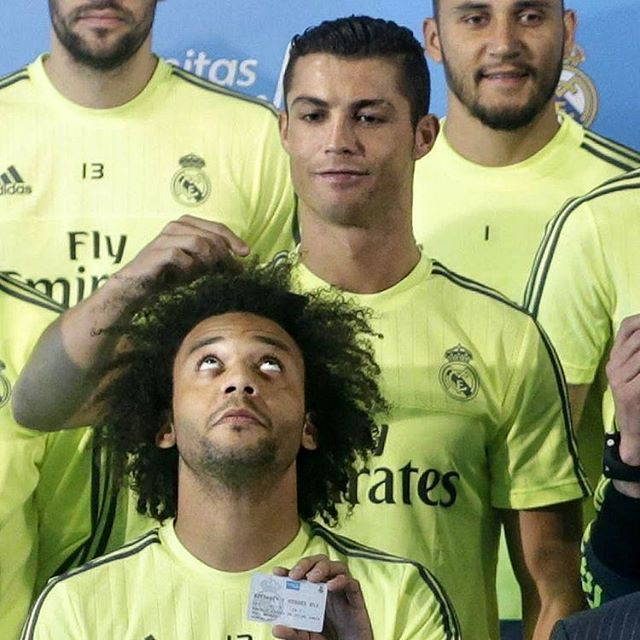 Cristiano Ronaldo and Marcelo