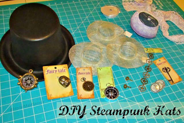 DIY Steampunk Hats at Home Maid Simple #SteampunkWedding