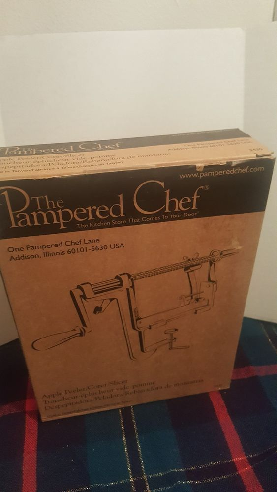 THE PAMPERED CHEF ONE APPLE PEELER CORER SLICER # 2430 christmas present #PamperedChef