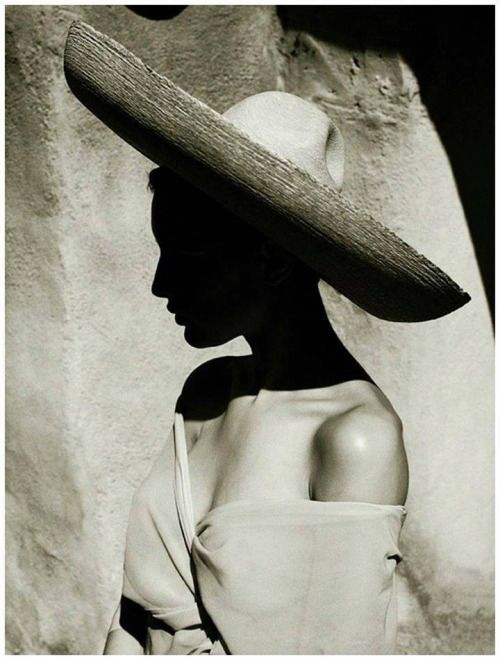 Albert Watson :: Charlotte, Arizona, 1988 The lighting in this picture ads depth to the photo because the hat to her face then the curtain being lit but in the corner it is dark again.
