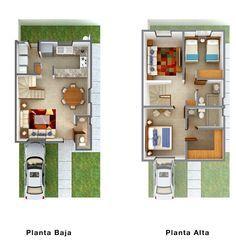 Modelos de casas de 2 pisos chiquitas y bonitas