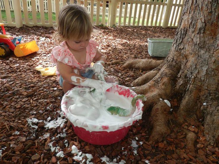 Add shave foam to your dinosaur bath ;)