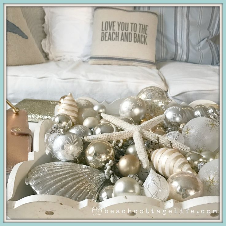 From my home to yours, have yourself a coastal little Christmas! Love you to the beach and back pillow- do you love it? Link in website photo gallery.