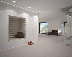 Aranżacje wnętrz - Salon: Dom w stylu Bauhaus - Niemcy - Duży salon, styl minimalistyczny - Kameleon - Kreatywne Studio Projektowania Wnętrz. Przeglądaj, dodawaj i zapisuj najlepsze zdjęcia, pomysły i inspiracje designerskie. W bazie mamy już prawie milion fotografii!
