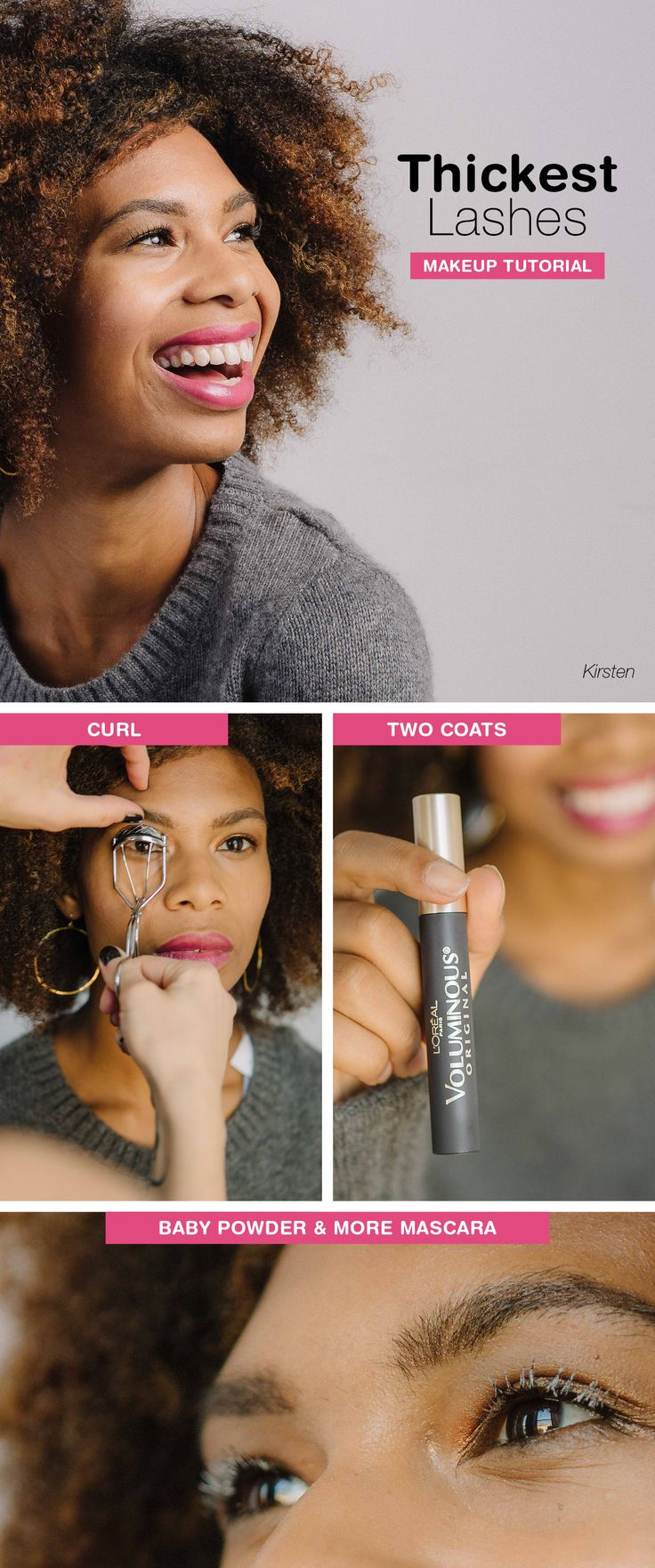 The bigger, the better! Bulk up your lashes with this old-school volumizing trick: Coat lashes with baby powder! Get the full tutorial on our Be Beautiful blog!