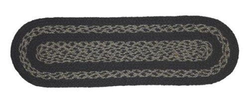 "Gunmetal Jute Stair Tread Oval 8.5x27"" by Victorian Heart. $5.80. All cloth items in our collections are 100% preshrunk cotton. All braided items (like rugs, baskets, etc.) are 100% jute. High end quality and workmanship!. Extensive line of matching items and accessories available! (Search by Collection name). See Product Description below for more details!. Product measurements and additional details listed in title and/or Product Description below.. 100% Jute"