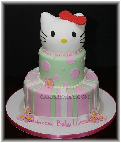 Awesome Hello Kitty Baby Shower Cake