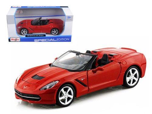 2014 Chevrolet Corvette C7 Convertible Metallic Red 1/24 Diecast Model Car by Maisto
