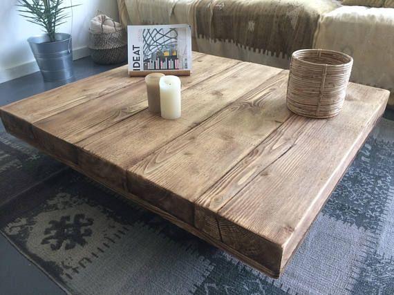 Sheesham Table Basse En Bois Massif 80x80x30 Cm D6d9 80x80x30