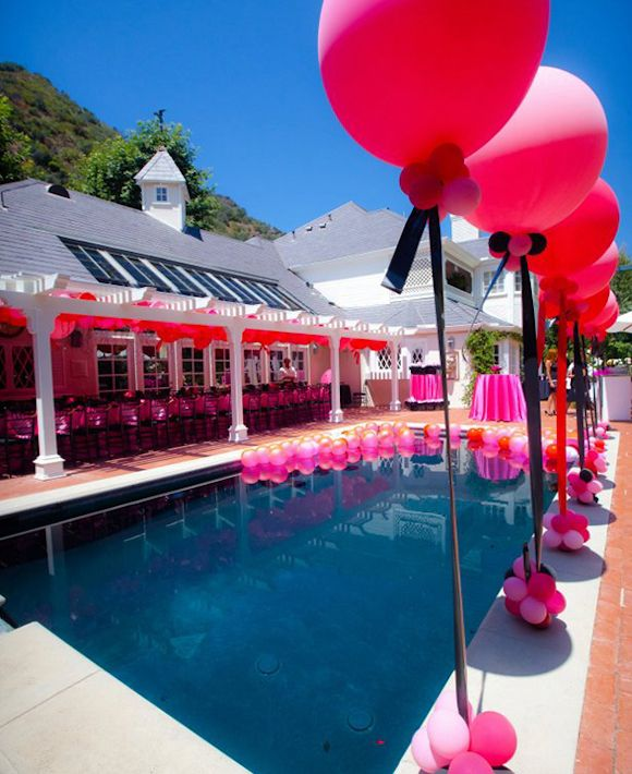 32 best images about poolside bridal shower on for Pool decorations