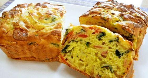 ホットケーキミックスで簡単ケークサレです♪ おやつや朝食に~(o´ω`o)