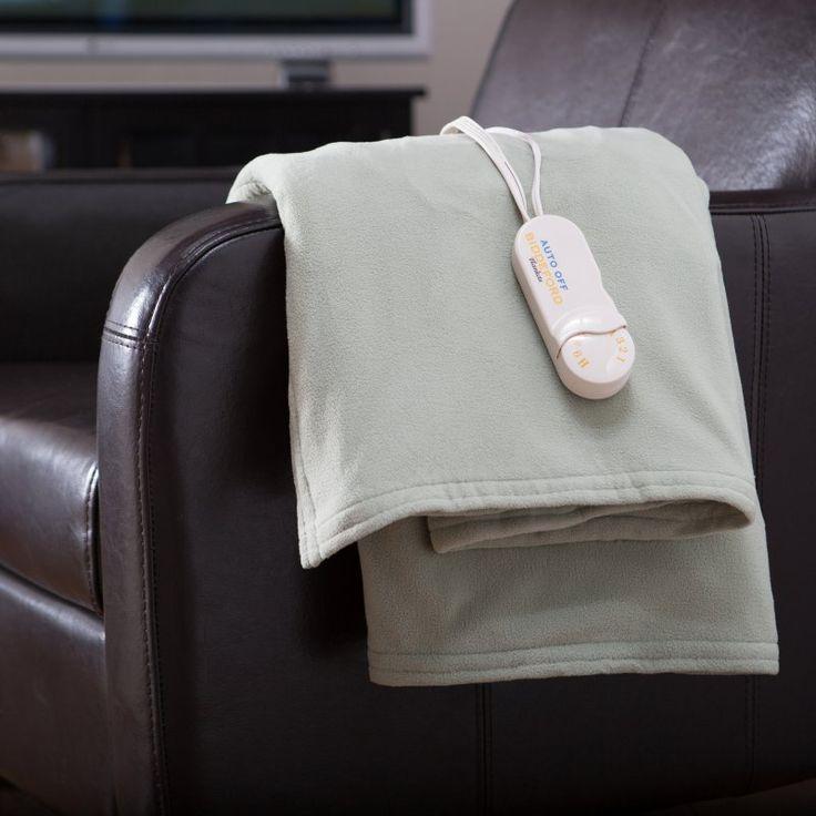 Biddeford Blankets Comfort Knit Electric Heated Throw Blanket Denim - 4440-907184-500