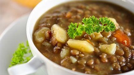 Lentils & Potato Soup Recipe - طريقة عمل شوربة العدس مع البطاطس والجزر