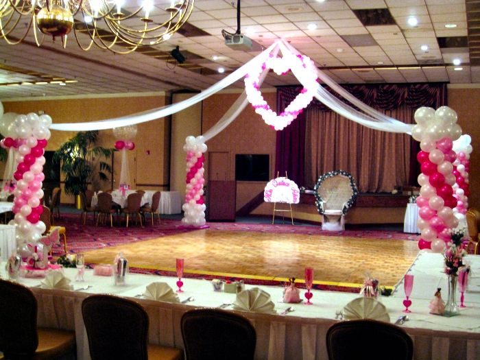 Decoracion para una quinceanera quinceaneras balloon for Balloon decoration ideas for a quinceanera