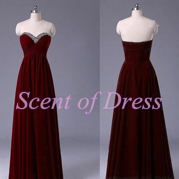 Deep Red Wine Bridesmaid Dresses