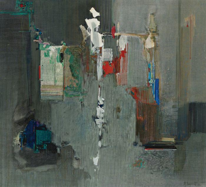 Κοντόπουλος Αλέκος – Alekos Kontopoulos [1904-1975] | paletaart – TABLEAU DE SILENCE-1967