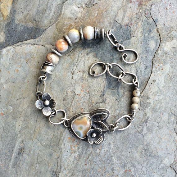 Ocean Jasper Bracelet in Sterling and Fine by coldfeetjewelry