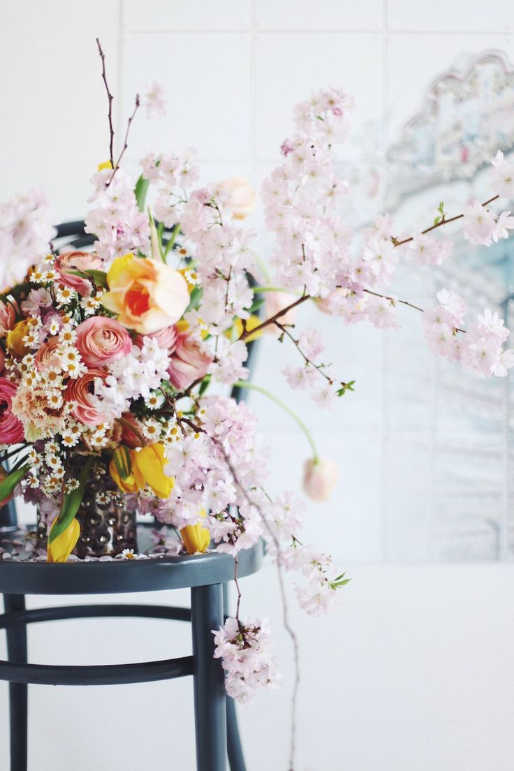 How To Style a Cherry Blossom Spring Bouquet - decor8