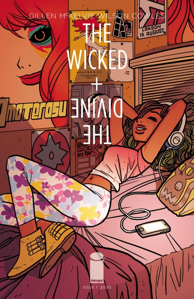 The Wicked + The Divine #1 variant cover by Bryan Lee O'Malley.
