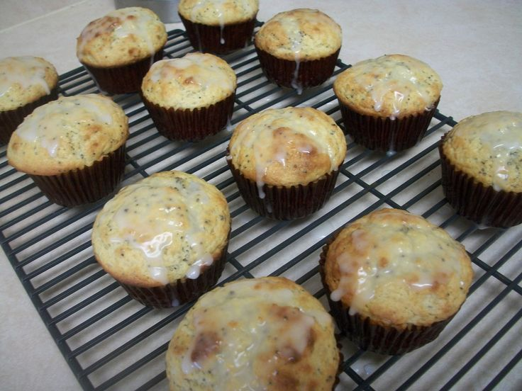 Lemon Poppy Seed Muffins. I also made a icing with yogurt, icing sugar ...