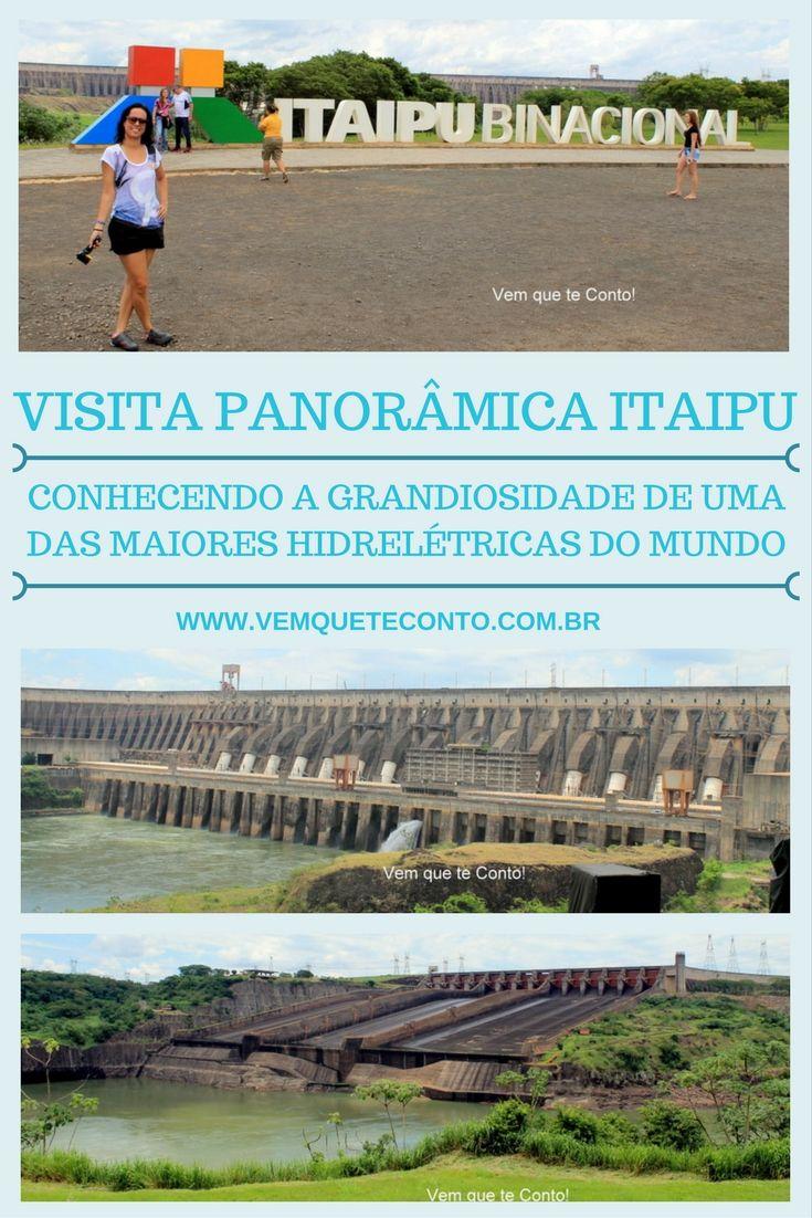 Visita Panorâmica na Hidrelétrica de Itaipu - Foz do Iguaçu. Conhecendo a grandiosidade de uma das maiores hidrelétricas do mundo. Brasil. http://wp.me/p6RwJv-GP