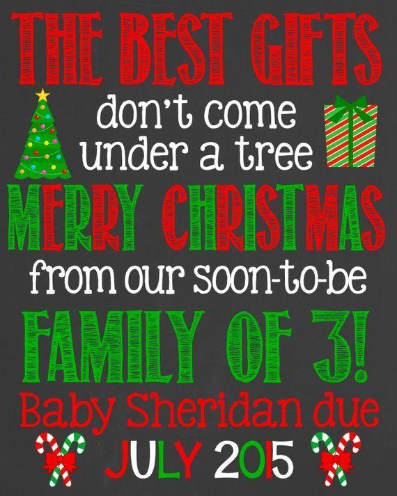Weihnachten Schwangerschaft Ankündigung Tafel Poster zum ausdrucken – Schwanger