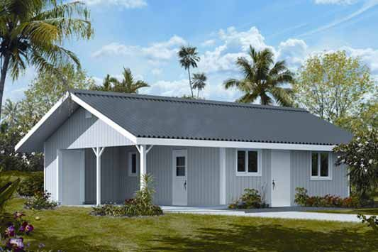 Efficient layout house package hilo hawaii house plans for Hawaii package homes