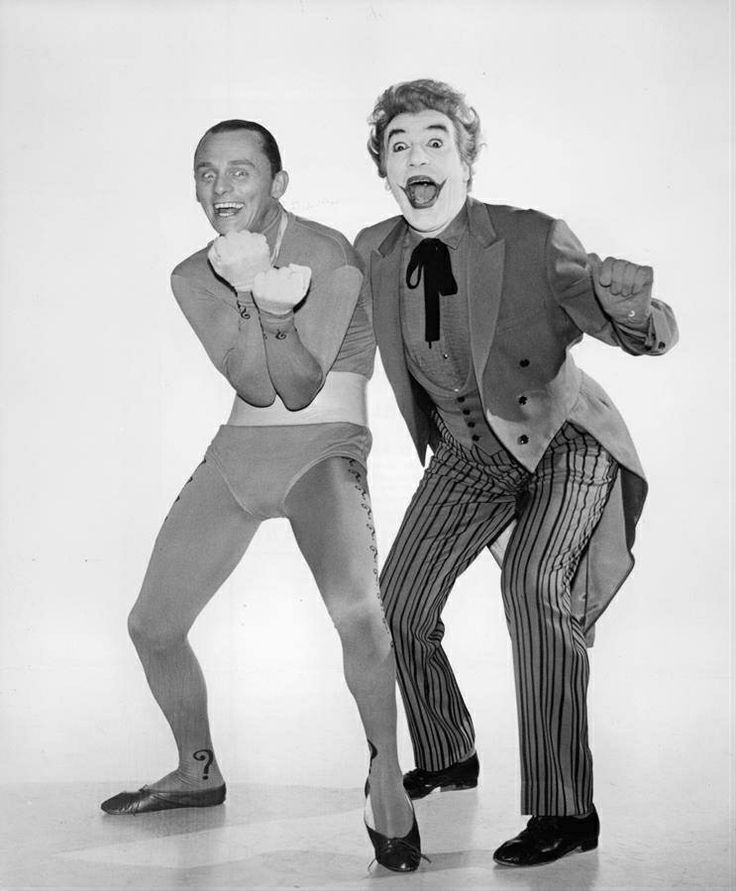 The Riddler (Frank Gorshin) and The Joker (Cesar Romero