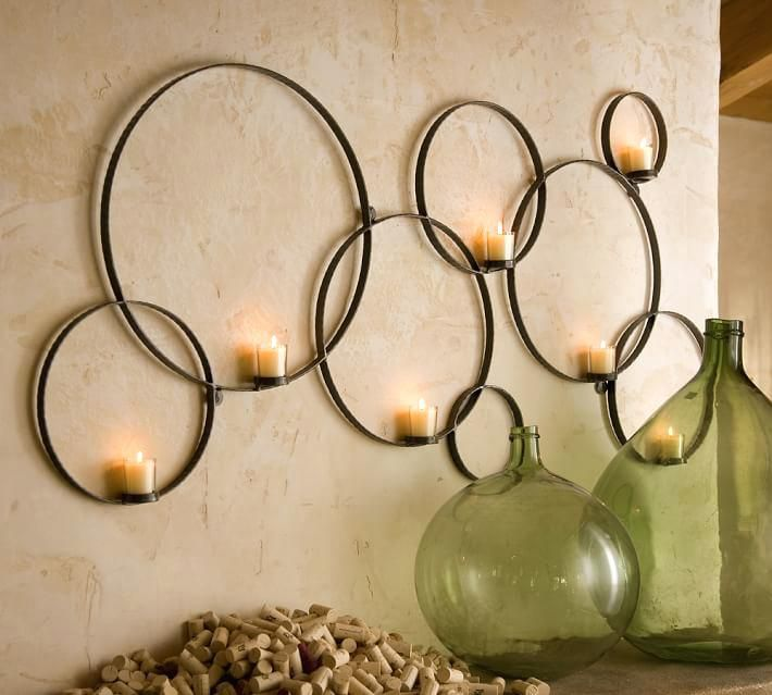 Wall Surprising Idea Metal Circle Wall Decor Plus Silver Circles Pier 1 Imports Half From M Candle Wall Decor Wall Mounted Candle Holders Circle Candle Holder