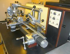 The headstock and tailstock can be elevated relative to the lathe bed, enabling the machine (with various attachments) to be used as a vertical/horizontal milling/boring machine. Raising the headstock also enables large diameters to be machined on a small lathe. These attributes allow a large variety of machining operations to be performed on one versatile machine. I can supply a complete set of drawings and construction descriptions for £80.00 plus post and packing. Email…