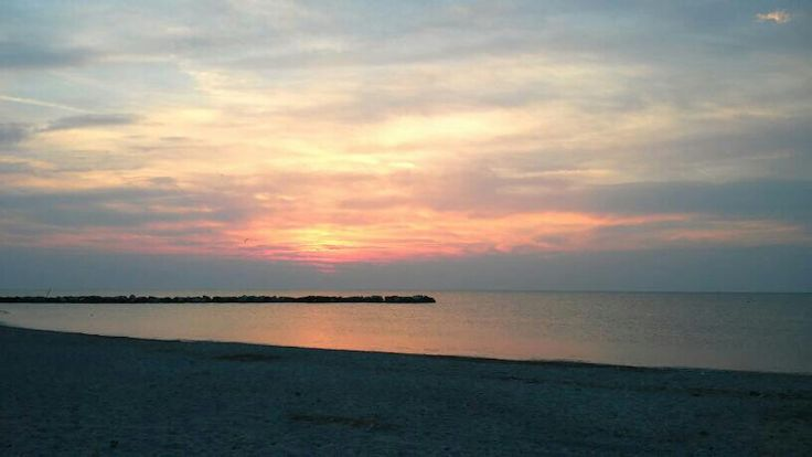 Sunrise at the beach ☀ San Benedetto del Tronto, Marche ITALY ❤