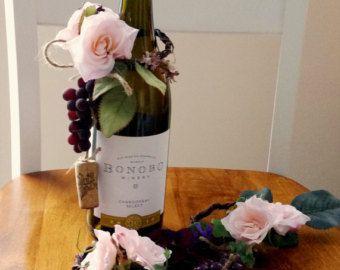 Wein Thema Hochzeit Mittelstücke Wein Flasche Topper von AmoreBride
