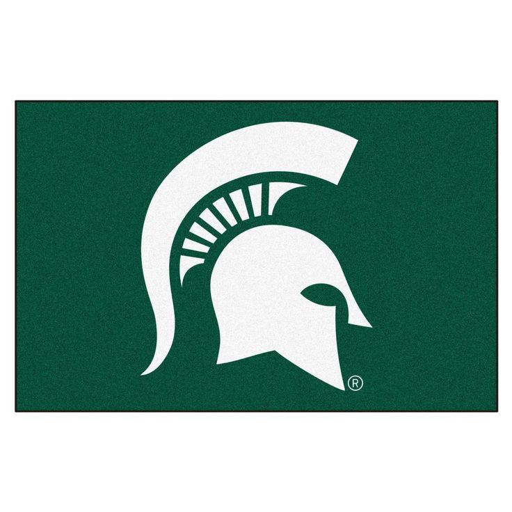 Michigan State University 19 in. x 30 in. Accent Rug, Team Colors