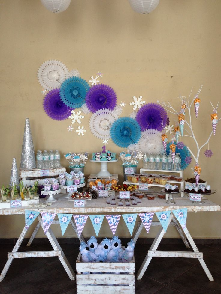 WINTER ONEDERLAND PARTY THEME! SWEET TREATS for babies and moms!