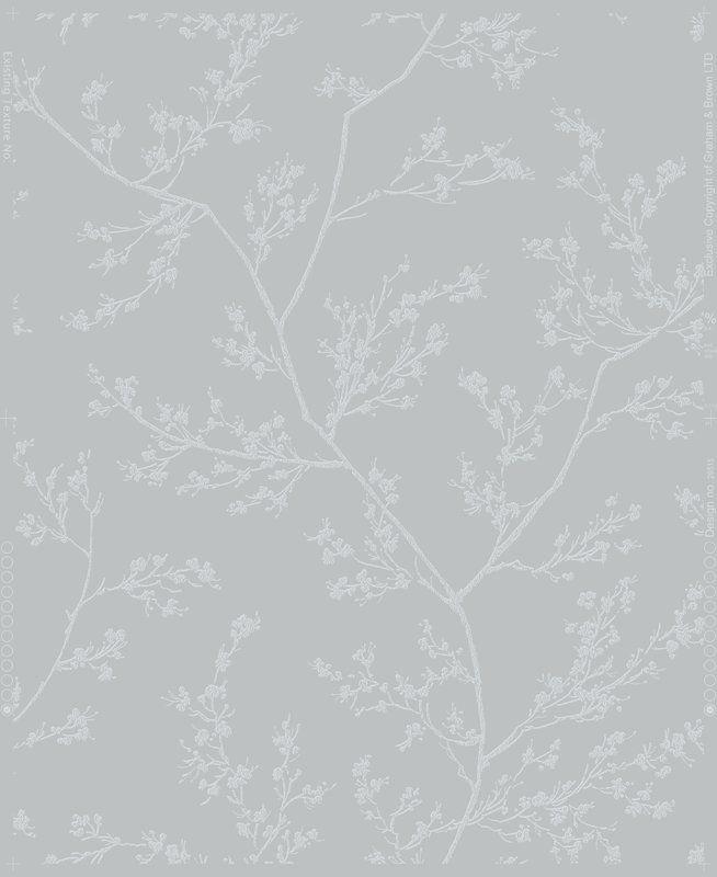 Springtime 33 X 20 5 Wallpaper Roll Blue Grey Wallpaper Silver Wallpaper Grey Wallpaper