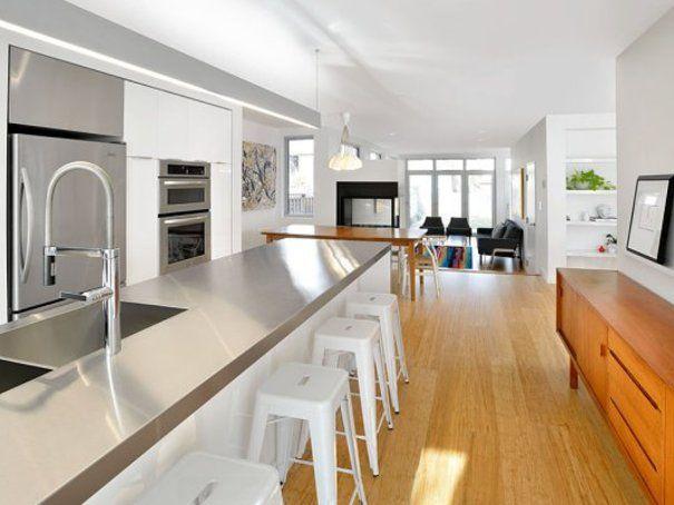 Die besten 25+ Moderne edelstahlküchen Ideen auf Pinterest - küche mit edelstahl arbeitsplatte