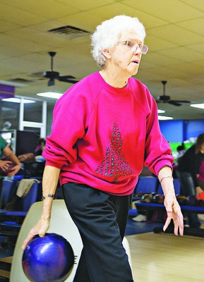 Pearl Crow is the Russellville bowling league's oldest member. Crow has #Alzheimer s disease but seldom misses a league night and even bowls better than most of the players on her team.