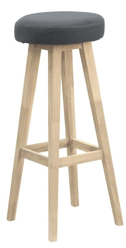 Mayflower Barstol - Smuk enkel barstol udført i egetræ med blød sædepude i grå.Tilfør ekstra charme til hjemmet med denne flotte barstol.