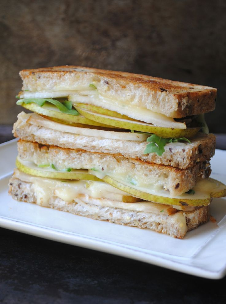 Grilled Cheese Sandwich With Brie, Pear & Hazelnuts Recipes ...