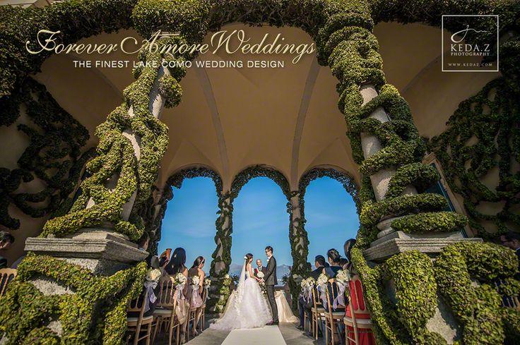 Wedding Villa Balbianello, romantic ceremony in Arched Loggia. Event by www.foreveramoreweddings.com Picture by www.kedaz.com  #foreveramoreweddings #lakecomowedding #villabalbianellowedding
