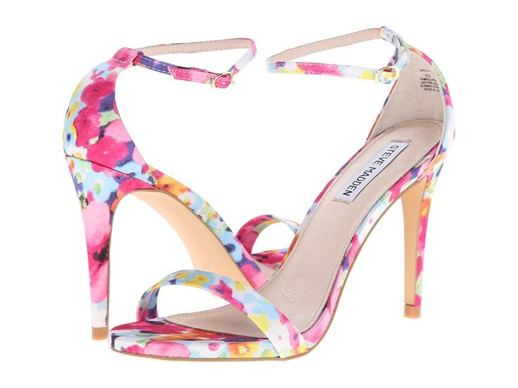 Style is in full bloom this season with the gorgeous floral print heeled sandals from Steve Madden.