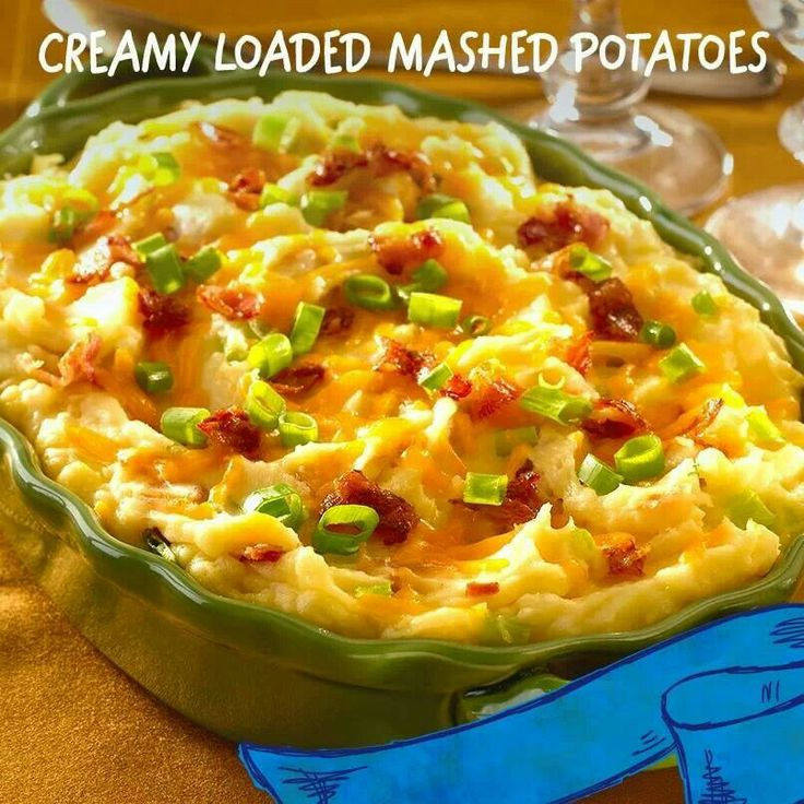 Creamy Loaded Mashed Potatoes | Food | Pinterest